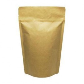 Brown Kraft Paper Stand up Pouch with Ziploc